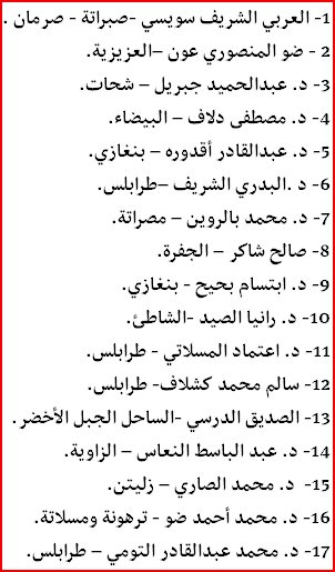 names of the 17 CDA members