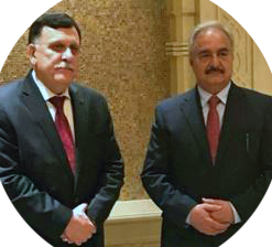 haftar meets sarraj in UAE