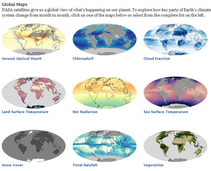 NASA's global maps