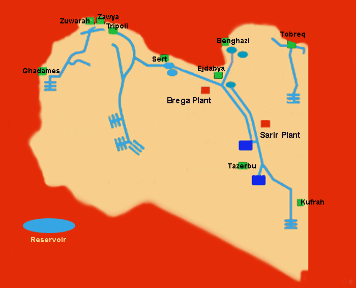 map of man-made river