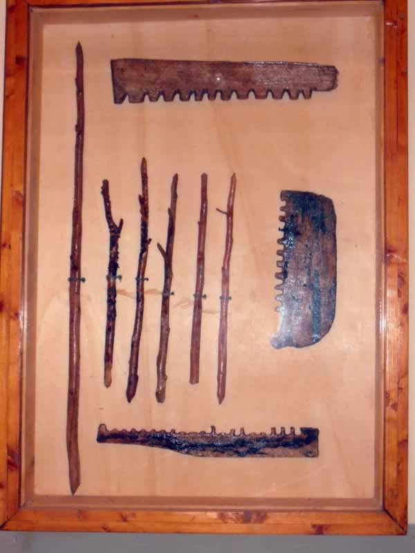 wooden tools from apollonia museum