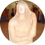 Libyan goddess from Cyrene museum