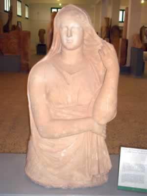 Libyan Berber sculptures from Cyrene Museum