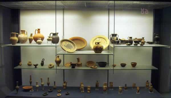 pottery artifacts from Assaraya Alhmara Museum, Tripoli, Libya