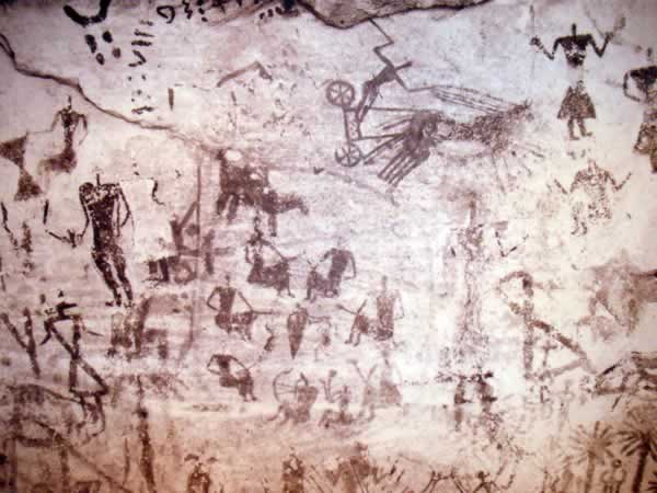 rock art reproduction from Tripoli Museum