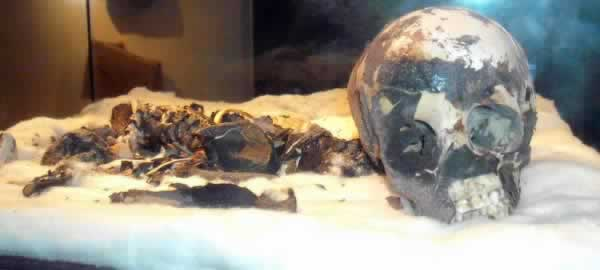 a mummy of a child found in Wadi Tashwinat Acacus by Mori