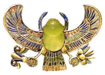 Tutankhamun libyan glass scarab