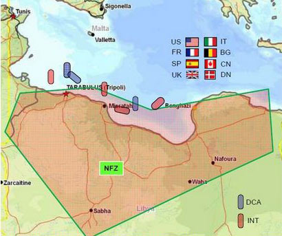 map of no fly zone over libya