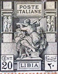 goddess Sibyl postal stamp