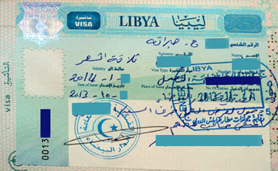 A Photo Of A Libyan Work Visa