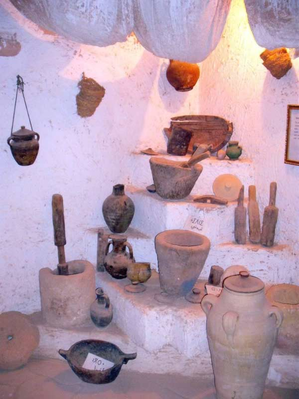 wooden kitchen tools, mortar, ppts and jars
