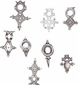 Tuareg Jewellery a Selection of  Crosses