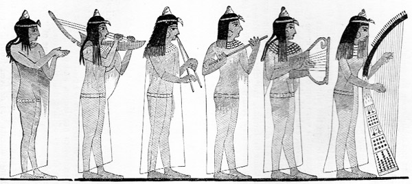egyptian women playing musical instruments