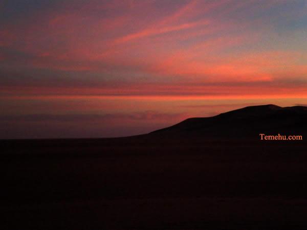 sunset among the sand dunes