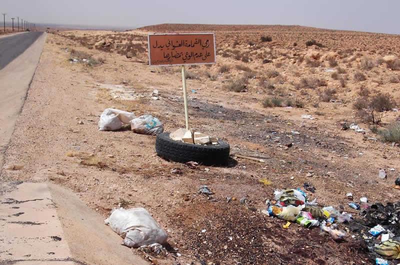 roadside rubbish dumpping warning