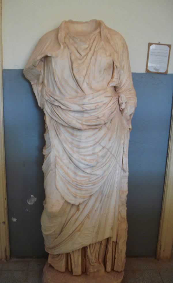 A headless Goddess from Apollonia museum