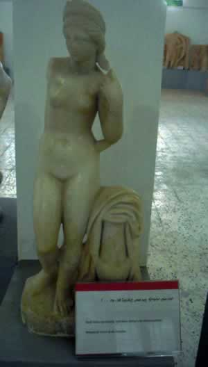 the goddess Aphrodite from Cyrene museum, standing