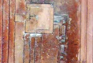 funerary door from a tomb in Ghirza