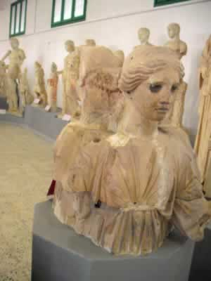 female busts from Cyrene Museum