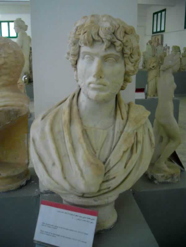 a bust from Cyrene Museum