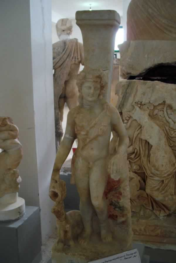 Dionysus statue from Cyrene sculpture museum