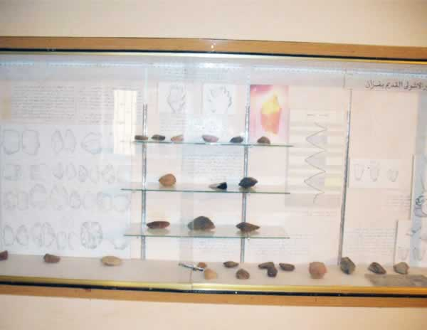stone implements from the acheulean age, in Germa museum, in  Fezzan