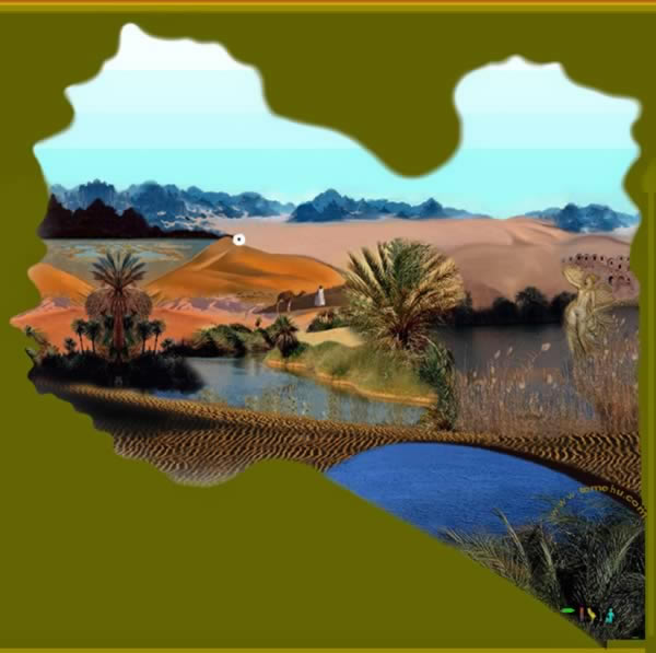 map of libyan desert. Libya Tourist Map Showing The
