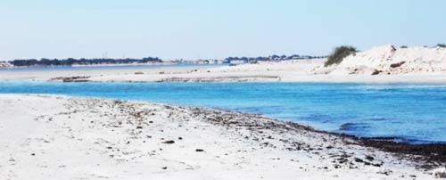 the peninsula of Farwah as it meets mainland