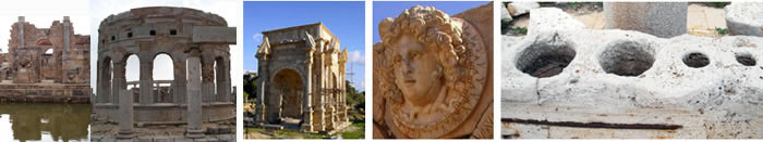 Leptis Magna Libya the Gorgon and the Arch