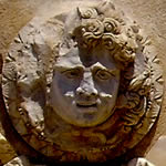 Medusa or gorgon's head face on