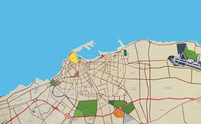 a road map of Tripoli