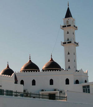 throo-domed mosque