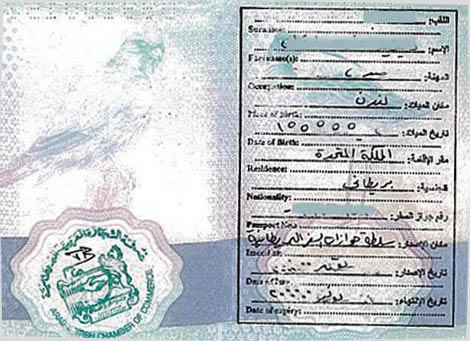this is what a passport Arabic translation should look like