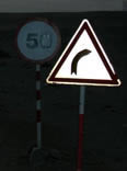 road sign in Libya