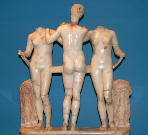 The three graces statue