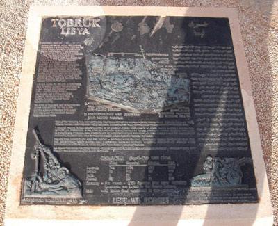Tobruk War memorial stone, Tobruk, Libya.