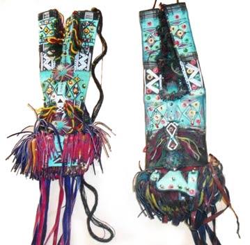 tuareg leather wallets