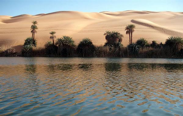 أم ماء البحيرة، فزان ليبيا