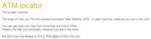 locate cash machines anywhere in the world.
