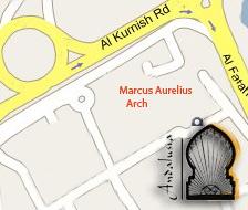 map of Alandalusia restaurant in tripoli