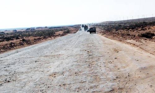 hard mud road