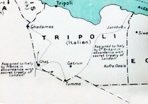 libya map  during imperial military geography