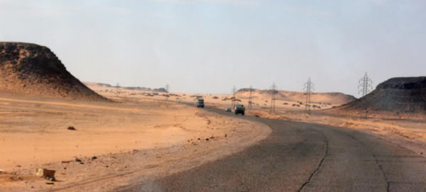 The road from Sabha to Acacus