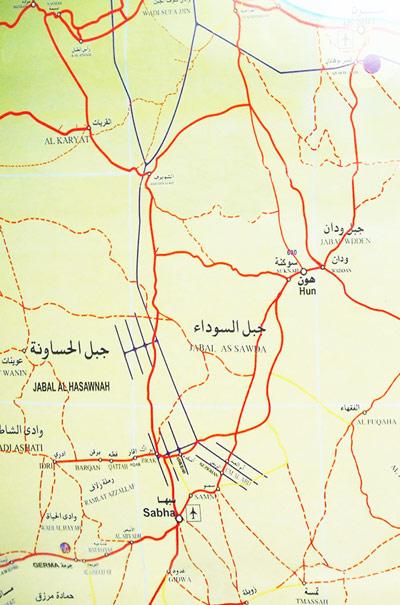 Sert Sebha route