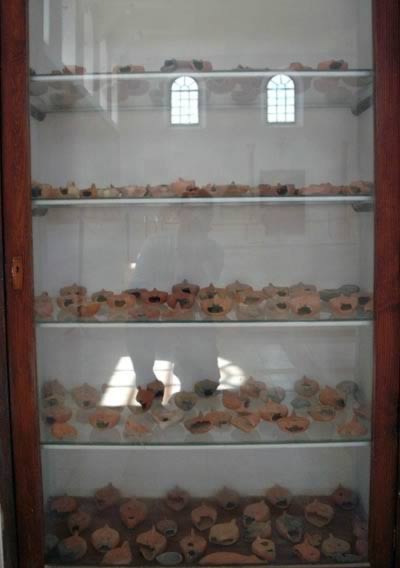 oil lamps on display