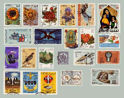 collection of Libyan stamps