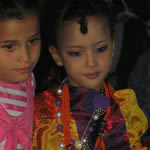 two Tuareg girls wearing Tuareg costumes from Ghadames Festival