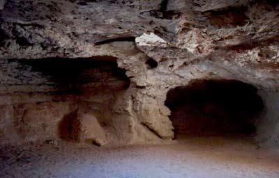 umar al mukhtar interior view of the cave