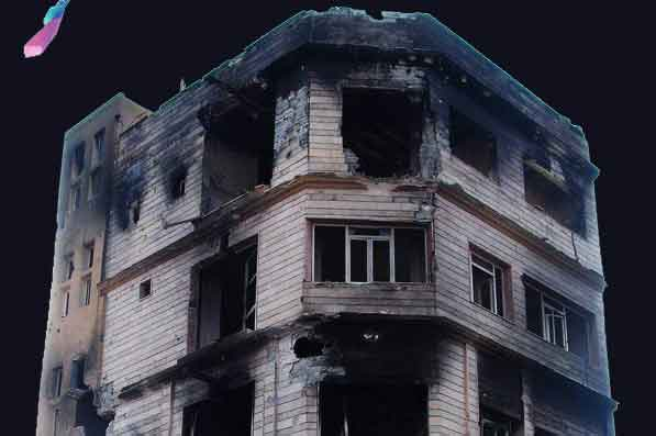 sabratha sweetshop all burnt with missiles