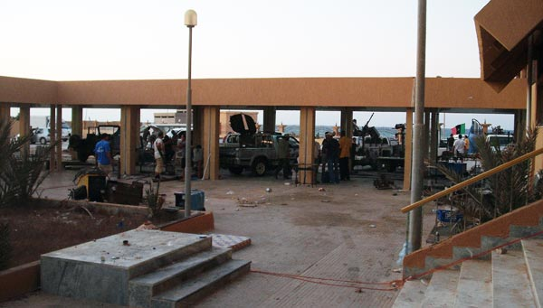 zuwarah rebels stationed by the sea